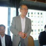 ●懇親会:村井先生による乾杯の挨拶